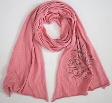 LRL RALPH LAUREN JEANS CO. *PROPRIETOR* Coral 100% COTTON Knitted Long Scarf