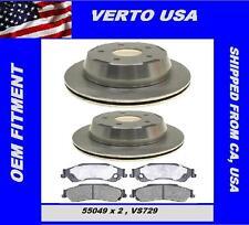 Verto USA Set Of 2 Rear Disc Brake Rotors & Pads , Chevrolet Blazer T10