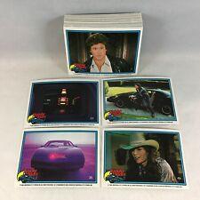 Knight Rider (DonRuss/1983) Complete Tv Show Card Set David Hasselhoff 55+11= 66