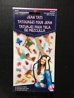 Jean Tats Fairies Off Temporary Clothes Rub On Tattoos 31 Pc New