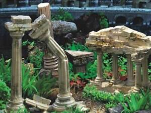 "19"" TALL Temple Ruins Background Poster for Aquarium / Vivarium / Fish Tank  Viv"