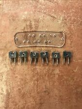 #3982 Hagstrom Ultra Swede Imperial Bridge String Stop Tail Set OEM Guitar Parts