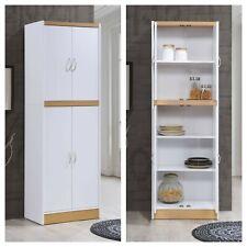 Kitchen Cabinet Pantry 4-Door Cupboard Storage Organizer White