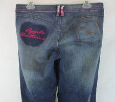 APPLE BOTTOMS Women`s Jeans, size 8, Dark Wash, Beaded Embellishments P717