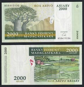 Madagascar 2000 ariary 2009 FDS/UNC  A-04