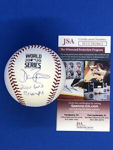 Dave Roberts Autographed Signed World Series Baseball w/ 2020 WS Champs JSA COA