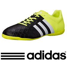New In Box ADIDAS Ace 15.4 Indoor Soccer Shoes (Black Neon, Size 10.5)