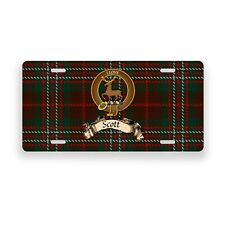 Scott Scottish Clan Hunting Tartan Novelty Auto Plate Tag Family License Plate