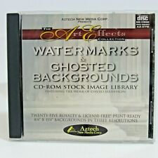 Watermarks & Ghosted Backgrounds: CD-ROM Stock Image Library