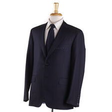 NWT $4195 OXXFORD HIGHEST QUALITY 'Randolph' Solid Navy 140s Wool Suit 44 R