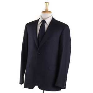 Oxxford Highest Quality 'Randolph' Solid Navy Blue 140s Wool Suit 46R NWT