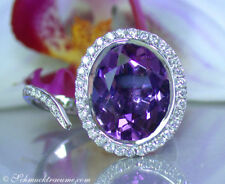 Attraktives Unikat: Edler Amethyst Ring mit Brillanten, 4,39 ct. WG-750 2.650€