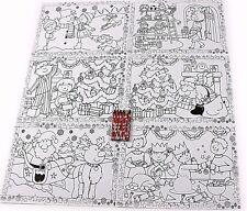Bambini Natale Divertente colore la tua tabella TOVAGLIETTE Babbo Natale Pupazzo di Neve Renna Crafts