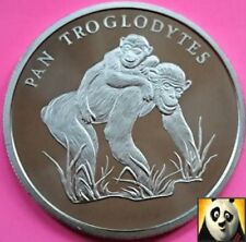 More details for 1986 rare common chimpanzee preserve planet wwf for nature coin medal