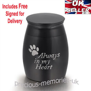 Pet Dog Cat Mini Cremation Ashes Urn - Funeral Memorial Keepsake - with Gift Box