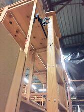 Vintage 123� Cotterman Oak Wood Rolling Library Ladder W/Hardware + Rod Options!
