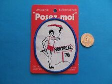 1 VINTAGE RARE 1976 CANADA MONTREAL OLYMPICS TORCH RUN PATCH CREST EMBLEM MOC