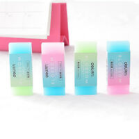 2Pcs Colorful Jelly Rubber Eraser Pencil Erasers for Kids School Stationary
