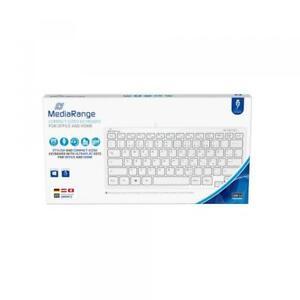 Mediarange Tastatur Compact ultraflach mit Kabel Keyboard QWERTZ weiß MROS113