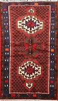 Geometric Nomadic Hamedan Hand-knotted Area Rug Wool Oriental Foyer Carpet 3'x5'