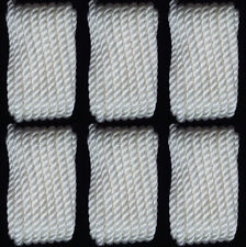 "(6) Boat Dock Lines Twisted Nylon 3/8"" Marine Rope (2) Each 10' 15' 20' ft WHITE"