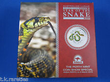 2013 Year of the Snake 2oz Silver Coloured Coin. ANDA 2-3 March 2013 at Perth