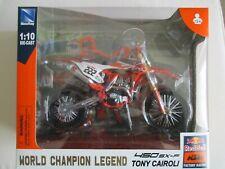 MINIATURE MOTO KTM 450 SXF TONY CAIROLI CHAMPION LEGEND N° 222  NEW RAY 1/10