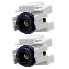 2x Toslink Digital Optical Fiber Audio Keystone Jack Couper Adapter SPDIF White