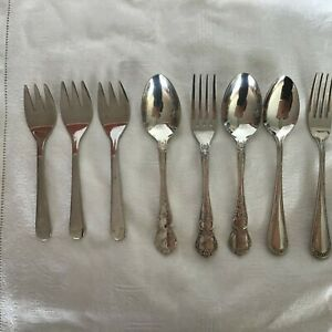 SILVER CUTLERY, SPOONS, FORKS, MIXED LOT