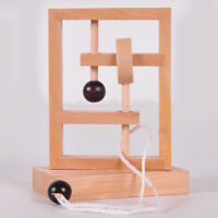IQ rope wooden puzzle logic brain teaser string puzzles game for adults kidsEJ