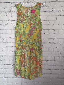Lilly Pulitzer Target Challis Romper Sz Small Happy Place Yellow Floral