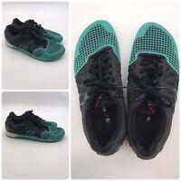 REEBOK Crossfit CF74 Men's Black Teal Shoes 023501 814 Size 11