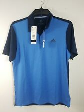 Mens Adidas Ultimate 2.0 Novelty Polo Blue Msrp $ 65 Dq2359 Size Small