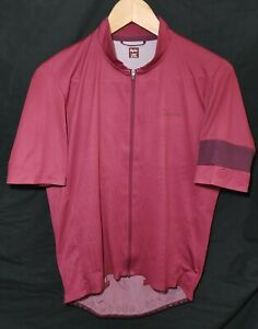 Rapha Flyweight Jersey Lines Burgundy Size Large Unisex Adult (see measurements)