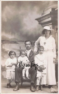 AFRICAN AMERICAN FAMILY GROUP real photo postcard RPPC c1915 HARRISBURG, PA