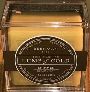 New Beekman 1802 Triple Milled Lump Of Gold Shimmer Beauty Bar 8 Oz
