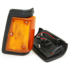 FIT NISSAN DATSUN 720 UTE PICKUP NEW FRONT SIDE SIGNAL LIGHTS BLACK PAIR 1980-89