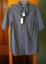 NWT-DANIEL CREMIEUX Signature▪Plaid▪Short Sleeve▪Button Front Shirt▪Size S