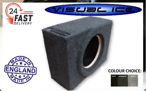 "VISUAL ICE ELITE 10"" COMPACT MDF SLOT PORT SUB BOX SUBWOOFER ENCLOSURE CAR AUDIO"