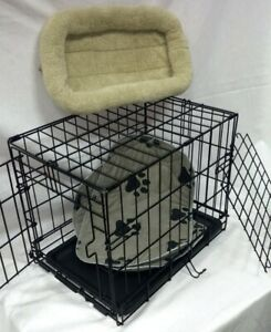 Folding metal wire pet carrier (crate)