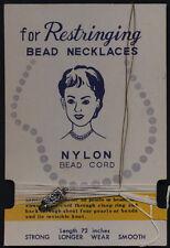 Vintage Restringing Bead Necklaces on Original Card for Vintage Jewelry - Japan