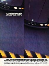 1990 BMW 525i 535i 2-page - Original Advertisement Print Art Car Ad J876