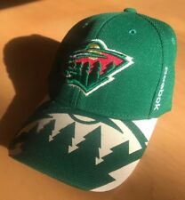 b8b58853260 New ListingMinnesota Wild Green Bearhead Logo Baseball Hat Cap Large XL  Weld One NHL