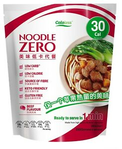 Noodle Zero Premium Shirataki Konjac Noodle,Keto Friendly,Low Calorie - Beef