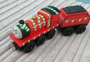 Thomas Wooden Railway Track James With Team Colours Train & Tender (Brio...