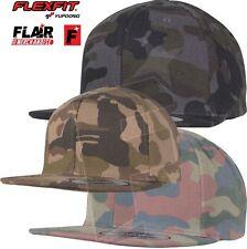 Yupoong Cotton Camo Snapback Baseball Cap Hat Military Camouflage Unisex