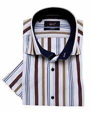 Da Uomo Big Size controlla casual manica corta Camicie Tom Hagan 3XL 4XL 5XL 6XL