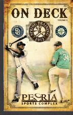 2012 SD PADRES & SEATTLE MARINERS  SPRING PROGRAM Felix Hernandez On Cover EX-MT