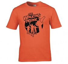 """THE WALKING DEAD """"WALKING DRUNK"""" T SHIRT NEW"""