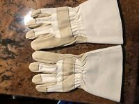 Shelby Tan Pigskin, Gauntlet, CAL-OSHA Structural Fire Gloves - SHE4235-J